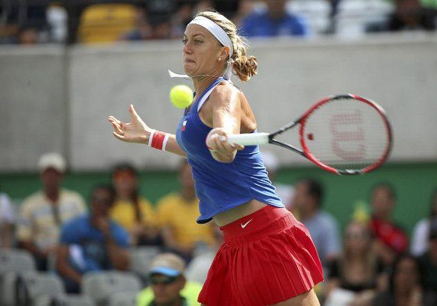 Tenistka Petra Kvitová v zápase proti Monice Puigové z Portorika.