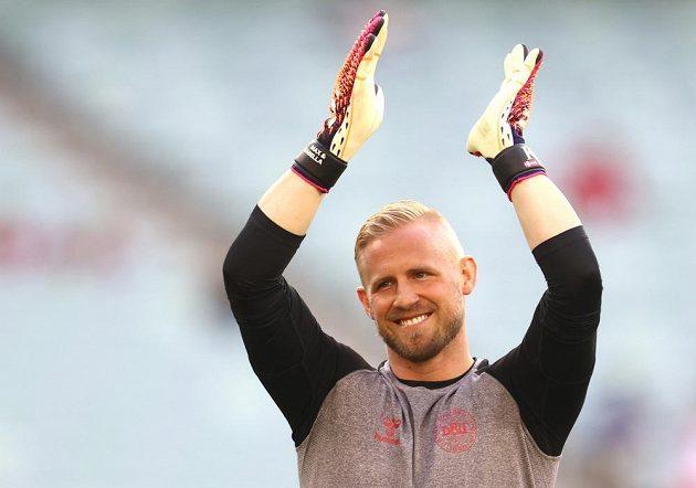 Dánský brankář Kasper Schmeichel před čtvrtfinále EURO s Českem.