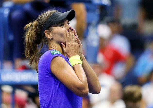 Petra Cetkovská stále ještě nemůže uvěřit tomu, že na US Open vyřadila loňskou finalistku Caroline Wozniackou.