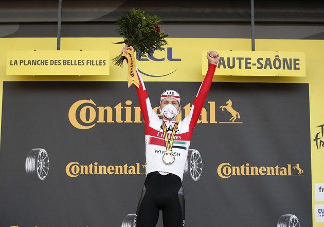 Tadej Pogačar, vítěz časovky na Tour de France.