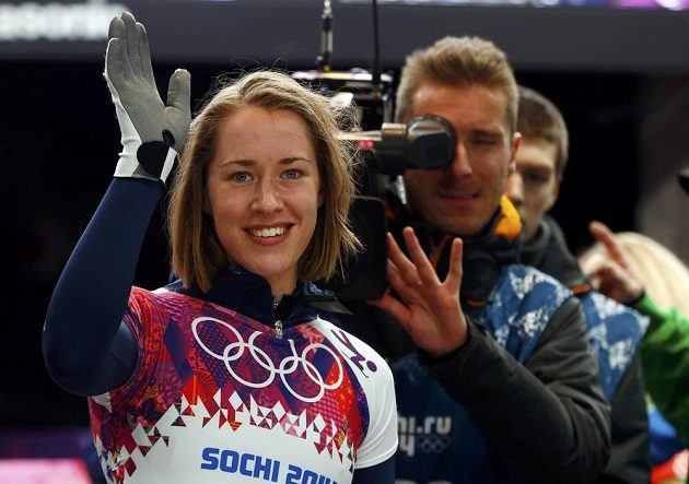 Britka Elizabeth Yarnoldová je olympijskou vítězkou ve skeletonu.