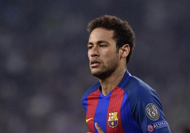 Barcelonský Brazilec Neymar byl po čtvrtfinále Ligy mistrů na hřišti Juventusu pořádně zklamaný. Italský tým zápas ovládl.