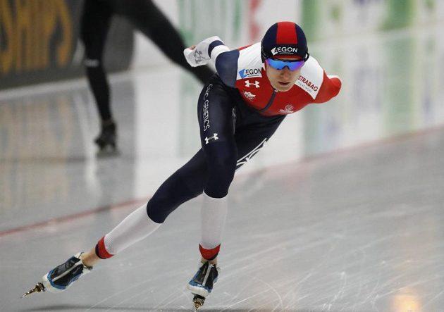 Martina Sáblíková na cestě pro zlato ze závodu na 3000 m.