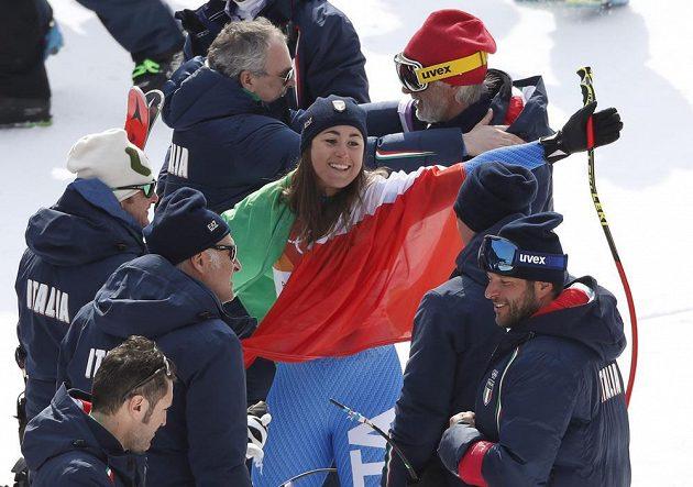 Královnou olympijského sjezdu v Pchjongčchangu je italská lyžařka Sofia Goggiaová.