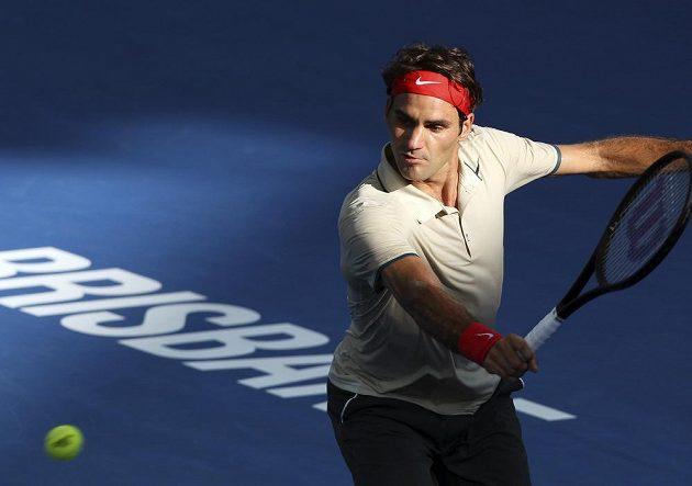Tři sety trval souboj Federera (na snímku) s Hewittem. Švýcar se musel nakonec před svým australským soupeřem sklonit.