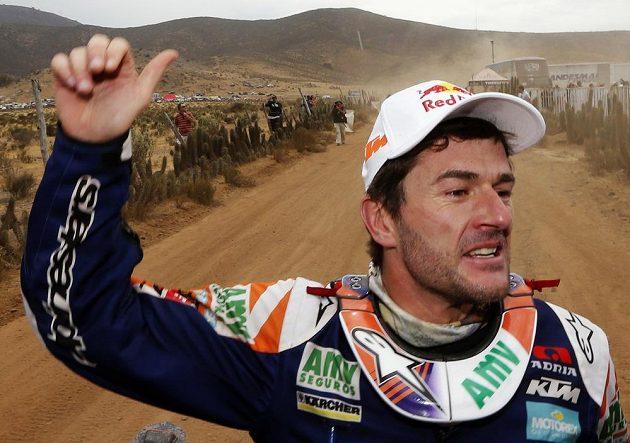 Španěl Marc Coma vyhrál s motocyklem značky KTM letošní Rallye Dakar.