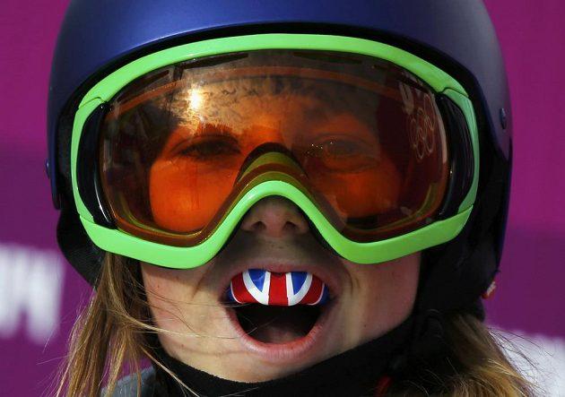 Britská reprezentantka Katie Summerhayesová měla v olympijské kvalifikaci slopestylu lyžařek důvod k radosti.