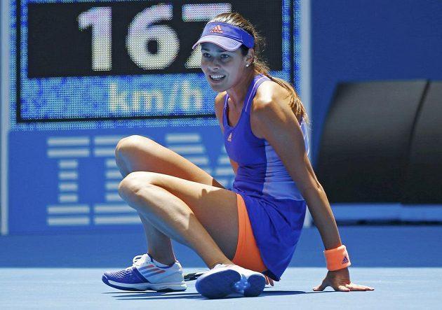 Ana Ivanovičová tentokrát marně hledala recept na hru Lucie Hradecké.