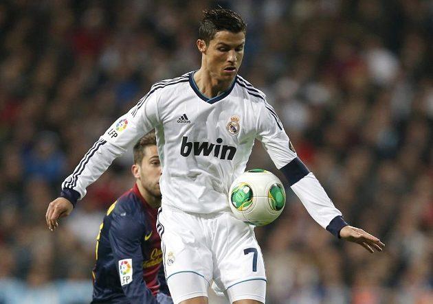 Portugalec Cristiano Ronaldo, hvězda Realu Madrid.