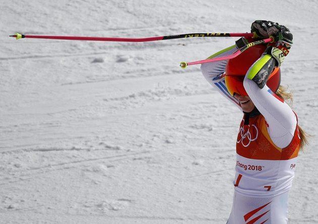 Americká slalomářka Mikaela Shiffrinová vyhrála obří slalom.