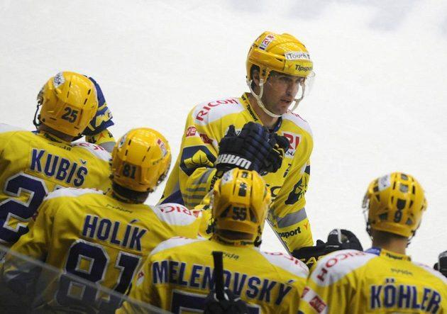 Autor třetího gólu Zlína Jaroslav Balaštík.