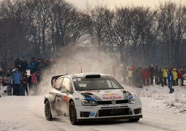 Sébastien Ogier s Volkswagenem Polo WRC na trati loňské Rallye Monte Carlo, kde načal cestu k prvnímu titulu kariéry.
