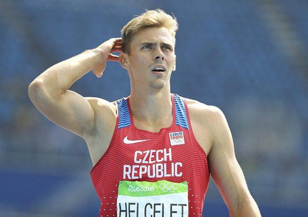 Adam Sebastian Helcelet po úvodní disciplíně druhého dne olympijského desetiboje - běhu na 110 metrů překážek.