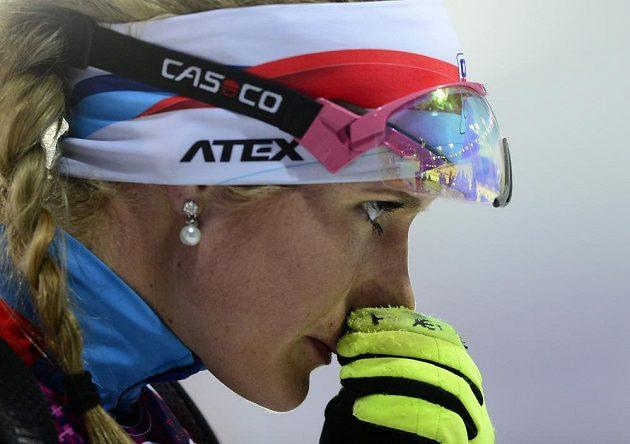 Biatlonistce Gabriele Soukalové unikla medaile v intervalovém závodu na 15 km jen o kousek.