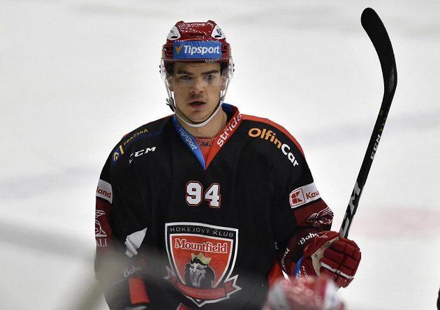 Jordann Perret z Hradce Králové vstřelil jednu z branek.