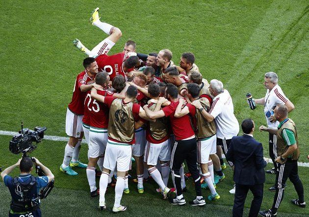 Takto Maďaři slavili úvodní gól proti Portugalsku.