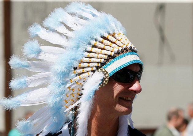 Příznivec Argentiny hlásící se k původním americkým obyvatelům.