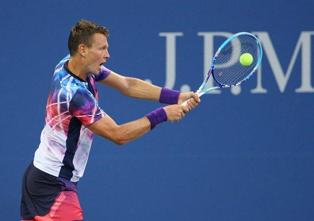 Tomáš Berdych neztratil ani ve svém druhém utkání na US Open set a porazil Rakušana Jürgena Melzera.