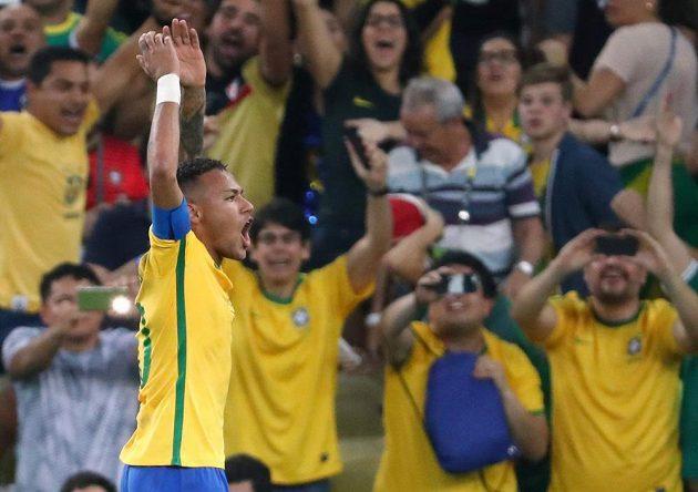 Brazilský hrdina Neymar otevřel skóre proti Německu.