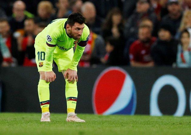 Barcelonský Lionel Messi zažíval hořký večer.