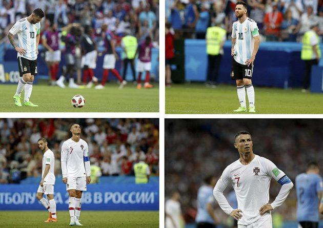 Konec pěkně v tichosti. Největší hvězdy současného fotbalu na MS dohrály v osmifinále. S šampionátem se rozloučil Portugalec Cristiano Ronaldo i Argentinec Lionel Messi.