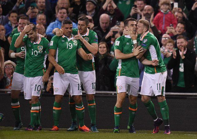 Irská gólová radost v duelu proti Gruzii.