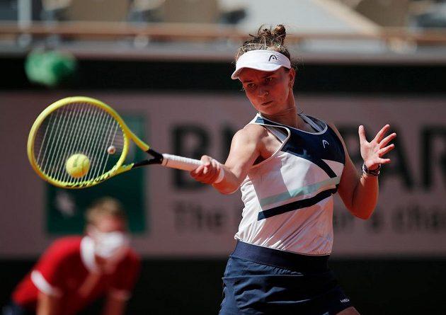 Česká tenistka Barbora Krejčíková ve čtvrtfinále French Open.