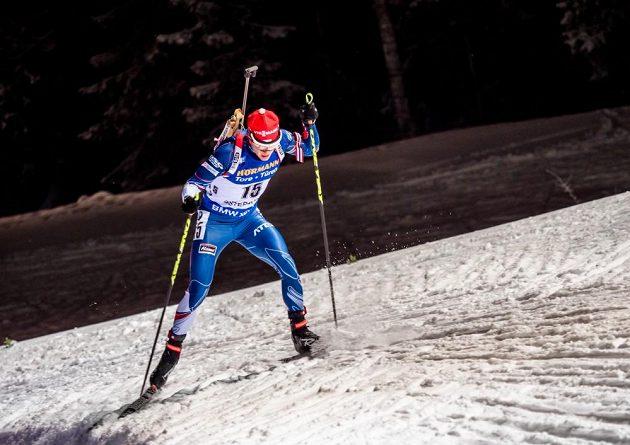 Michal Krčmář na trati vytrvalostního závodu v Östersundu.