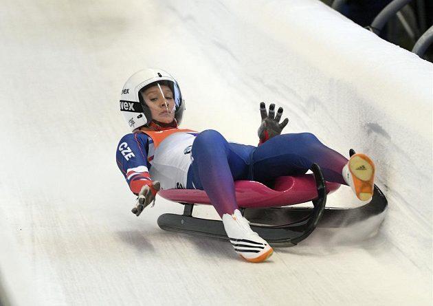 Tereza Nosková v ledovém korytu.