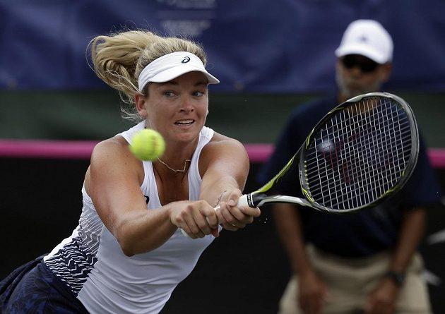 Američanka CoCo Vandewegheová ve Stuttgartu tahala proti české jedničce Karolíně Plíškové za kratší konec.