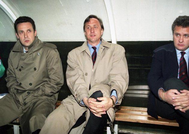 Johan Cruyff v roli trenéra Barcelony.
