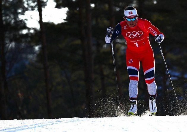 Norka Marit Bjoergenová získala ve sprintu dvojic získala už svoji 14. olympijskou medaili.