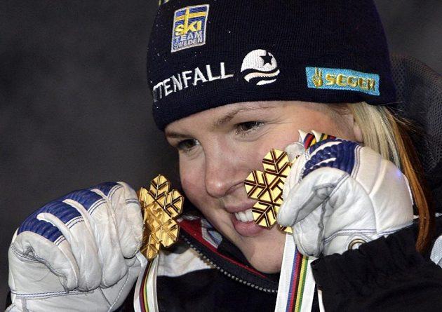 Bývalá lyžařka Anja Pärsonová.