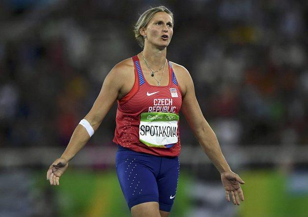 Oštěpařka Barbora Špotáková během finále.