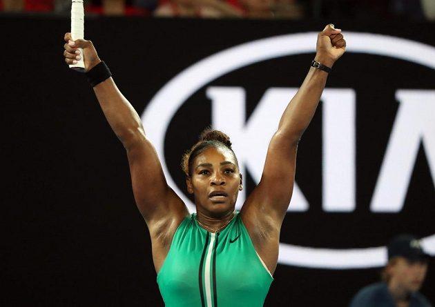 Sláva! Jsem ve čtvrtfinále, jásá Serena Williamsová.
