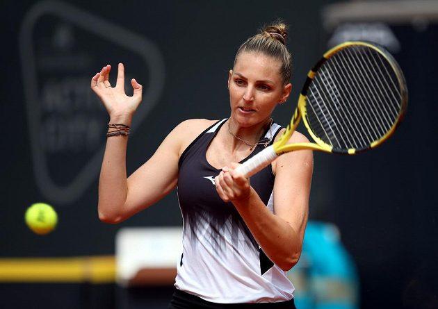 Česká tenistka Kristýna Plíšková si čtvrtfinále v Hamburku nezahraje.