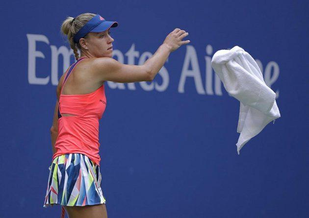 Němka Angelique Kerberová ve finále US Open s Karolínou Plíškovou.