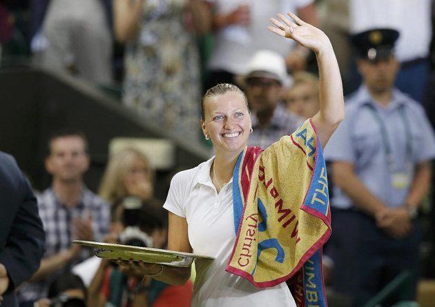 Šťastná Petra Kvitová.