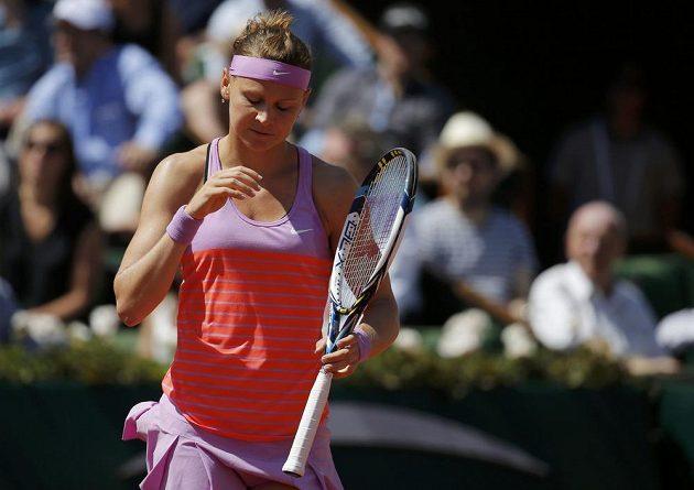 Tenistka Lucie Šafářová během semifinálového zápasu French Open proti Srbce Aně Ivanovičové.