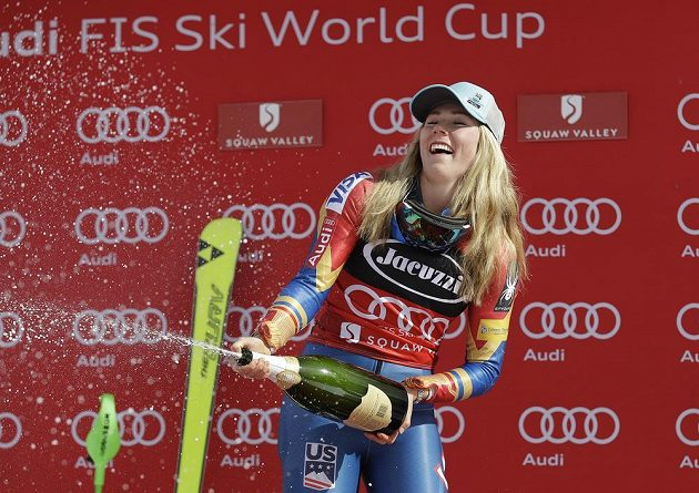 Mikaela Shiffrinová ve Squaw Valley.