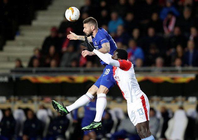 Slavia vstoupila do zápasu proti Chelsea aktivně