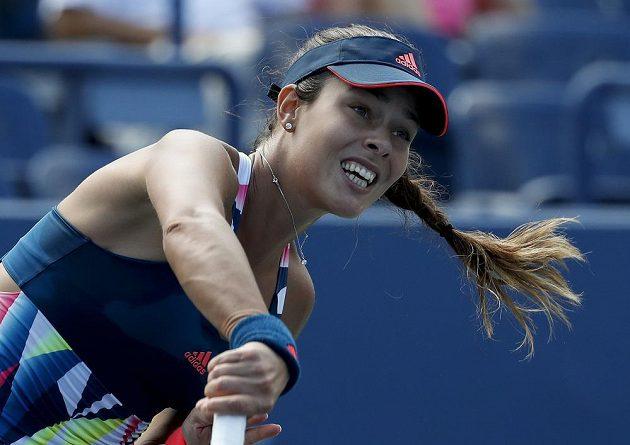 Ana Ivanovičová během zápasu s Denisou Allertovou.