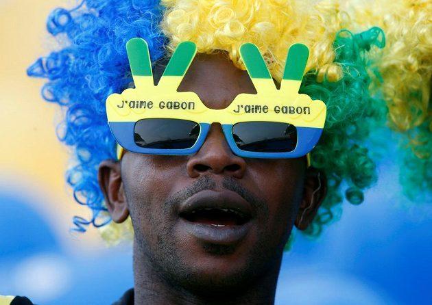 Zvítězíme! Fanoušek Gabonu.
