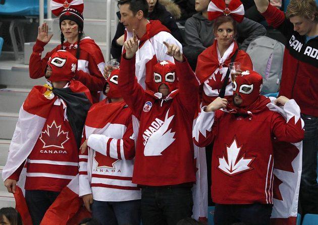Fanoušci Kanady při semifinále s Německem.
