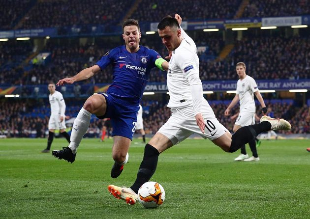 Chelsea šla proti Frankfurtu do vedení
