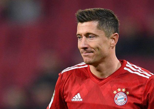 Kanonýr Bayernu Mnichov Robert Lewandowski.