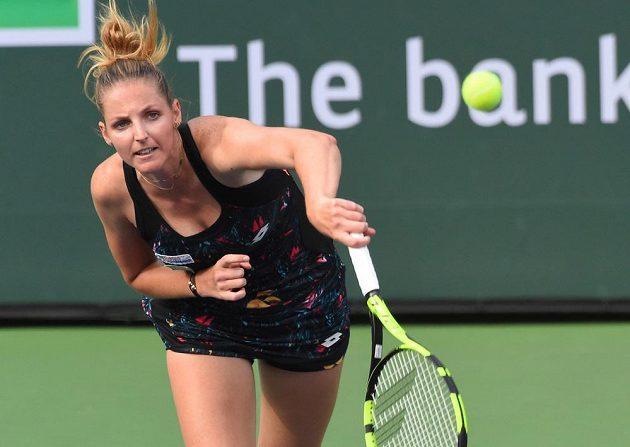 Česká tenistka Kristýna Plíšková na turnaji v Indian Wells prohrála se světovou jedničkou Simonou Halepovou ve druhém kole.