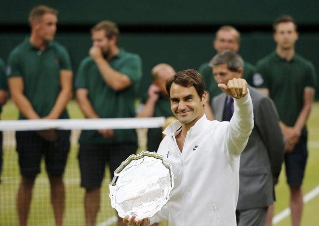 Švýcar Roger Federer se musel spokojit s druhým místem.