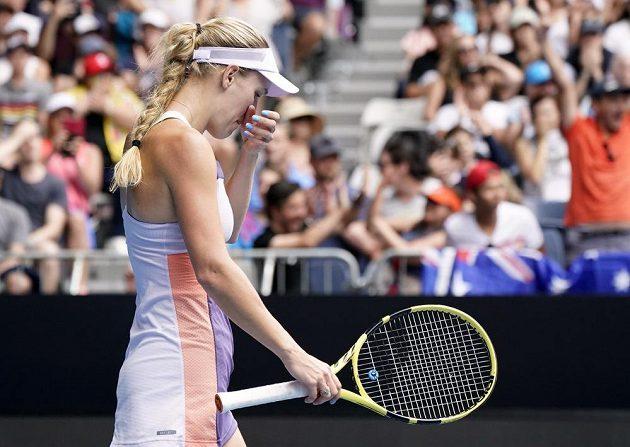 Caroline Wozniacká odehrála svůj poslední zápas kariéry ve dvouhře
