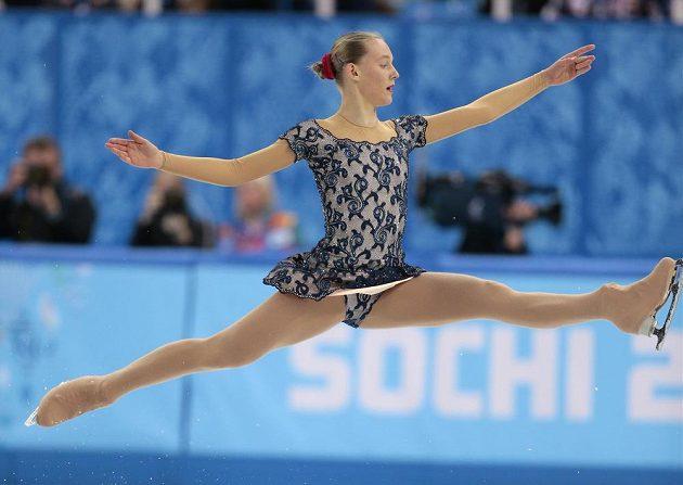 Elizaveta Ukolová během své volné jízdy na olympijských hrách v Soči.